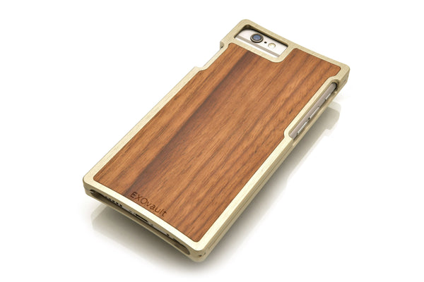 EXO23-S Silver Aluminum Teak for the iPhone 7/6s/6