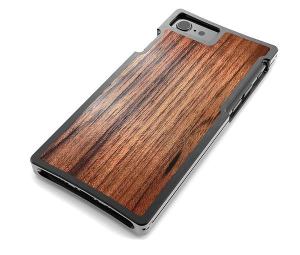 EXO23-S Black Aluminum and Teak for the iPhone 8/7/6s/6 Plus