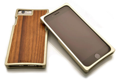 EXO23-S Silver Aluminum Teak for the iPhone 8/7/6s/6