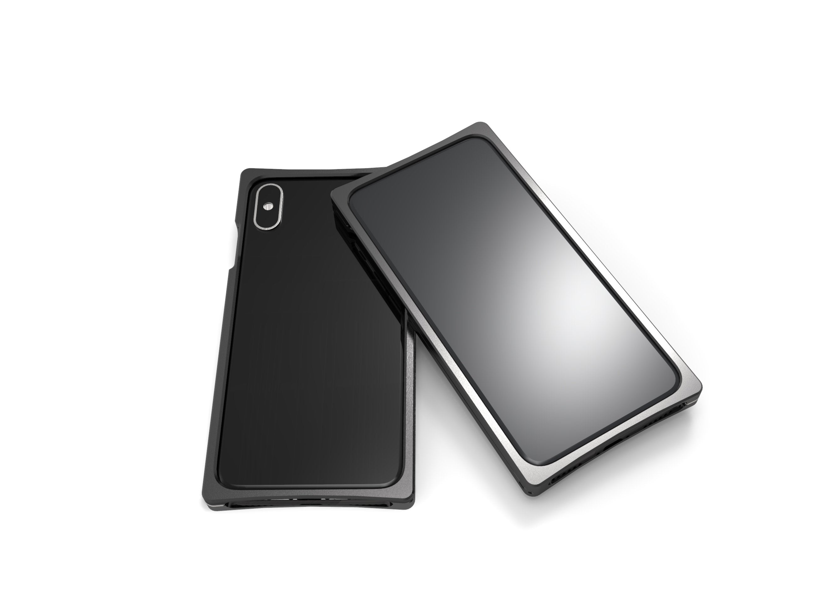EXO-X Black Aluminum with Open Back for the iPhone X