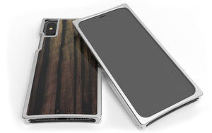 Nickel Aluminum Case with Ebony Inlay for iPhone XS
