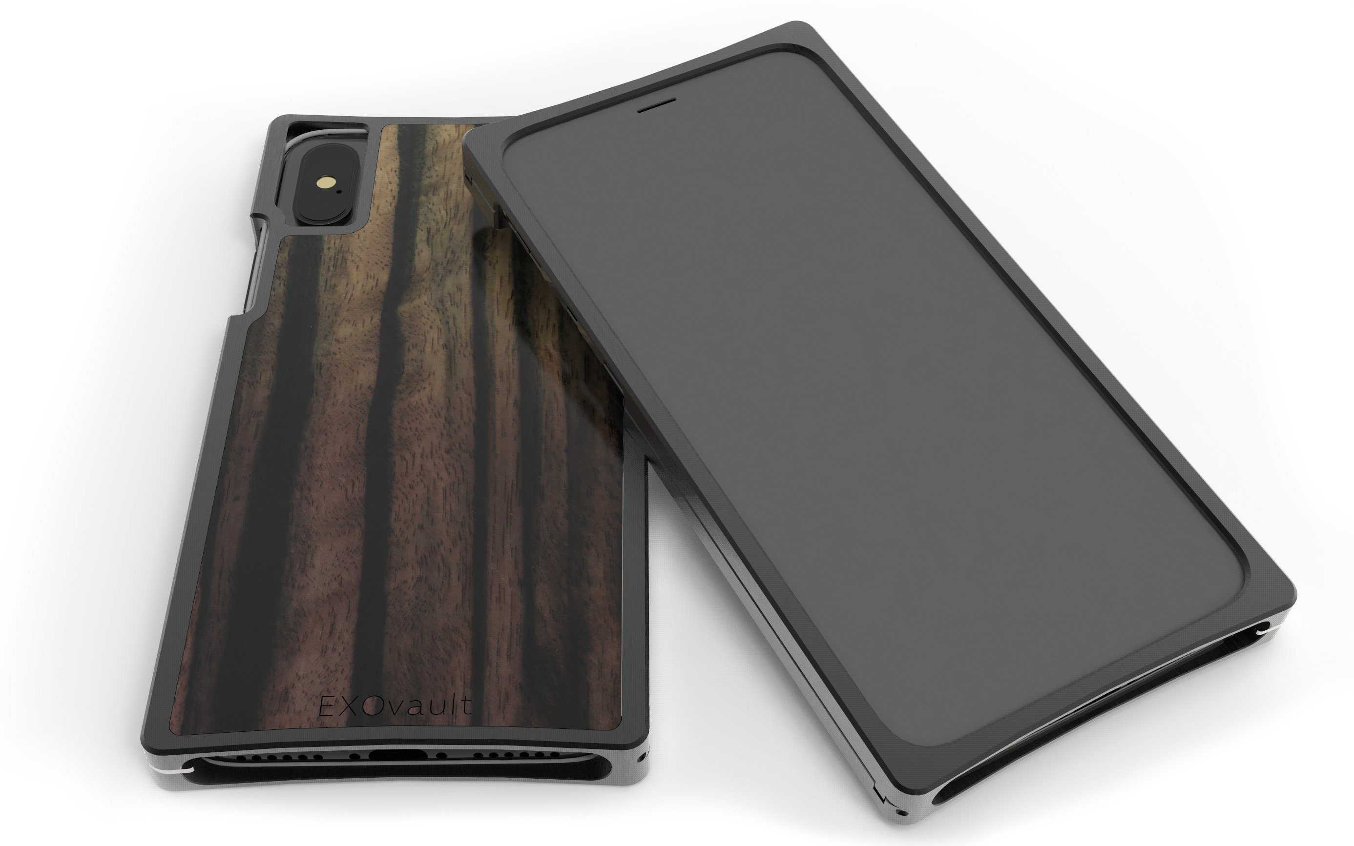 Black Aluminum Case with Ebony Inlay for iPhone X