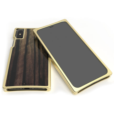 Brass and Ebony case for iPhone XS