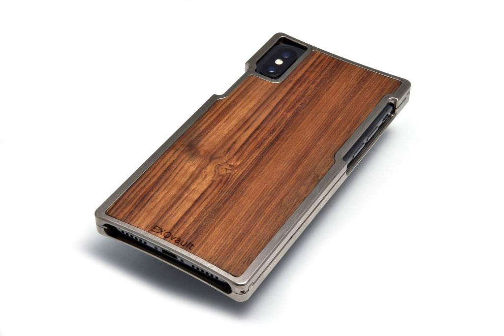 EXO-X Nickel and Teak for the iPhone X