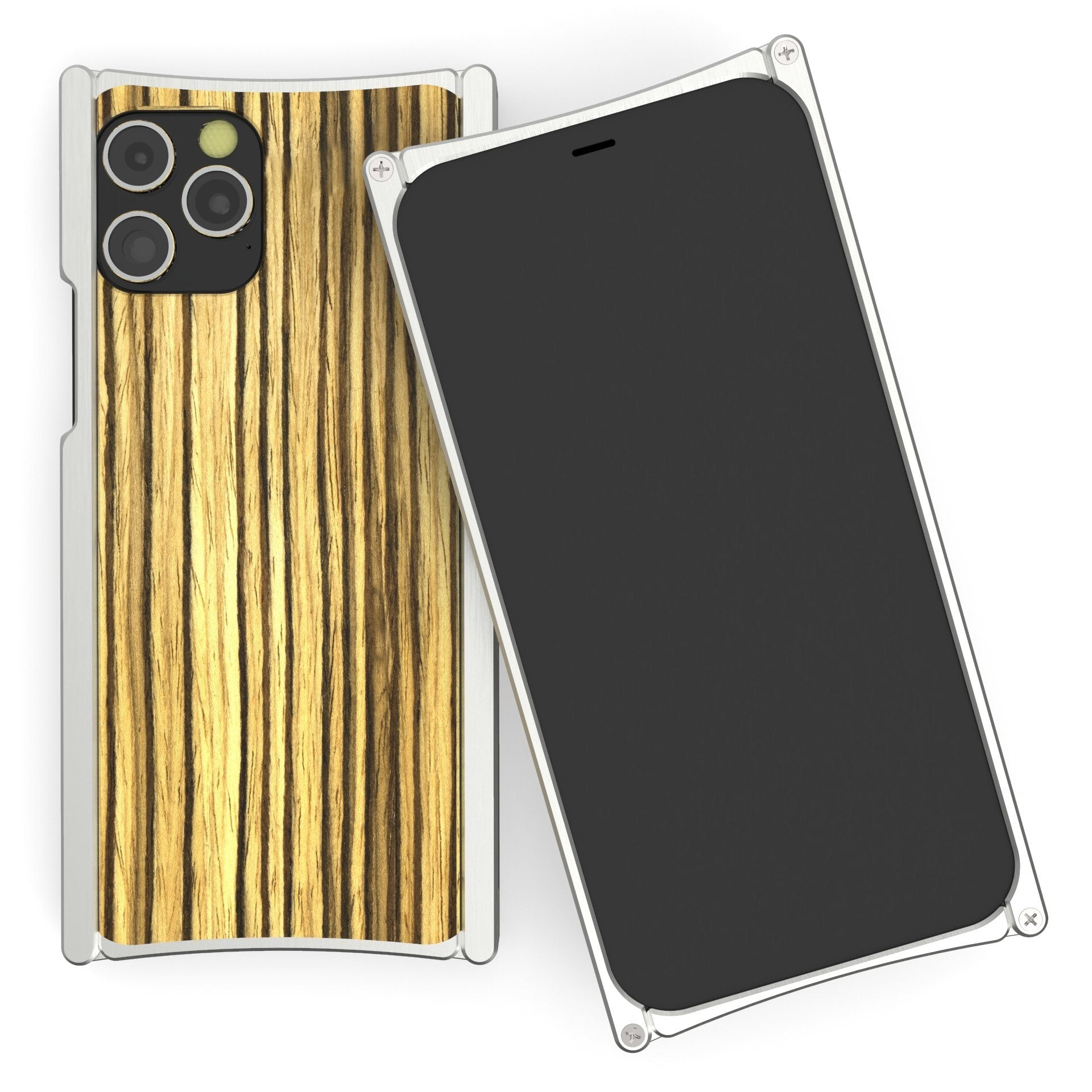 Europa 12 Pro Silver Aluminum and Zebra Wood