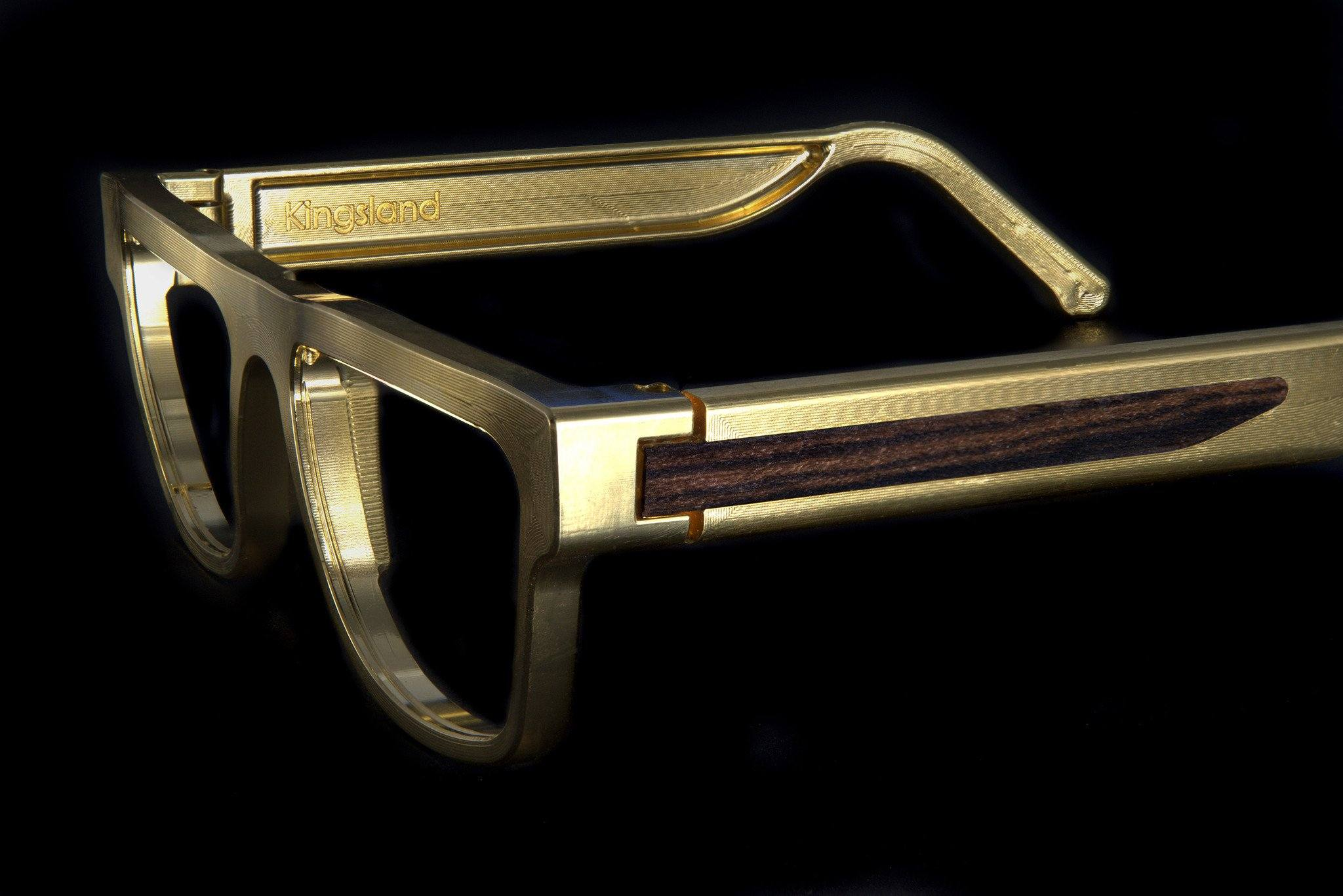Kingsland Frame Gold with Hardwood Inlay