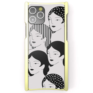iPhone 12 Case, Jenna Bouma, Faces, Artist edition Europa 12 Pro Max Brass and White G10