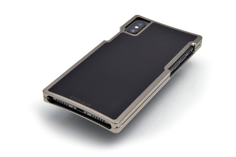 Nickel Case with Black G10 Inlay for iPhone XS