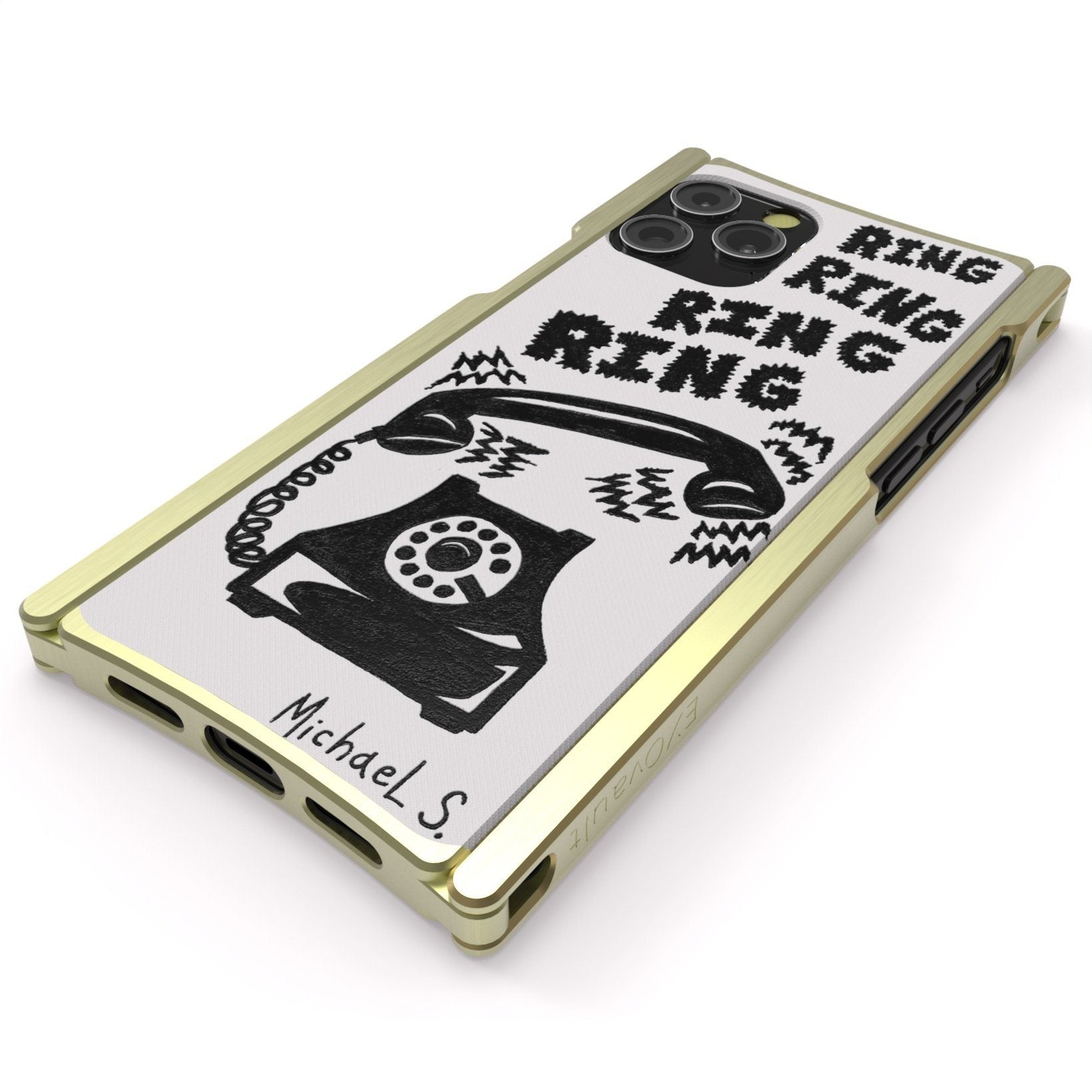 Michael Scoggins, Ring Ring Ring, Artist Edition Europa 12 Pro Max Brass and White G10 - Preorder