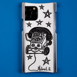 iPhone 11 Case, Michael Scoggins Toy Phone Edition Europa case in Heritage Nickel and White G10