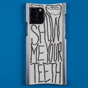 iPhone 11 Case, Alex Gingrow Show Me Your Teeth Edition Europa case in Heritage Nickel and White G10
