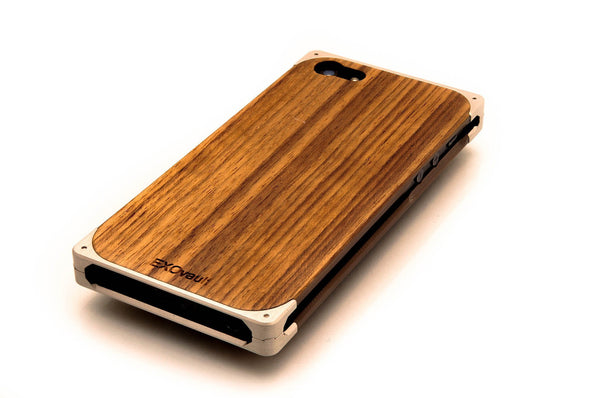 EXO18 Silver Aluminum and Teak for iPhone 5/5s & SE