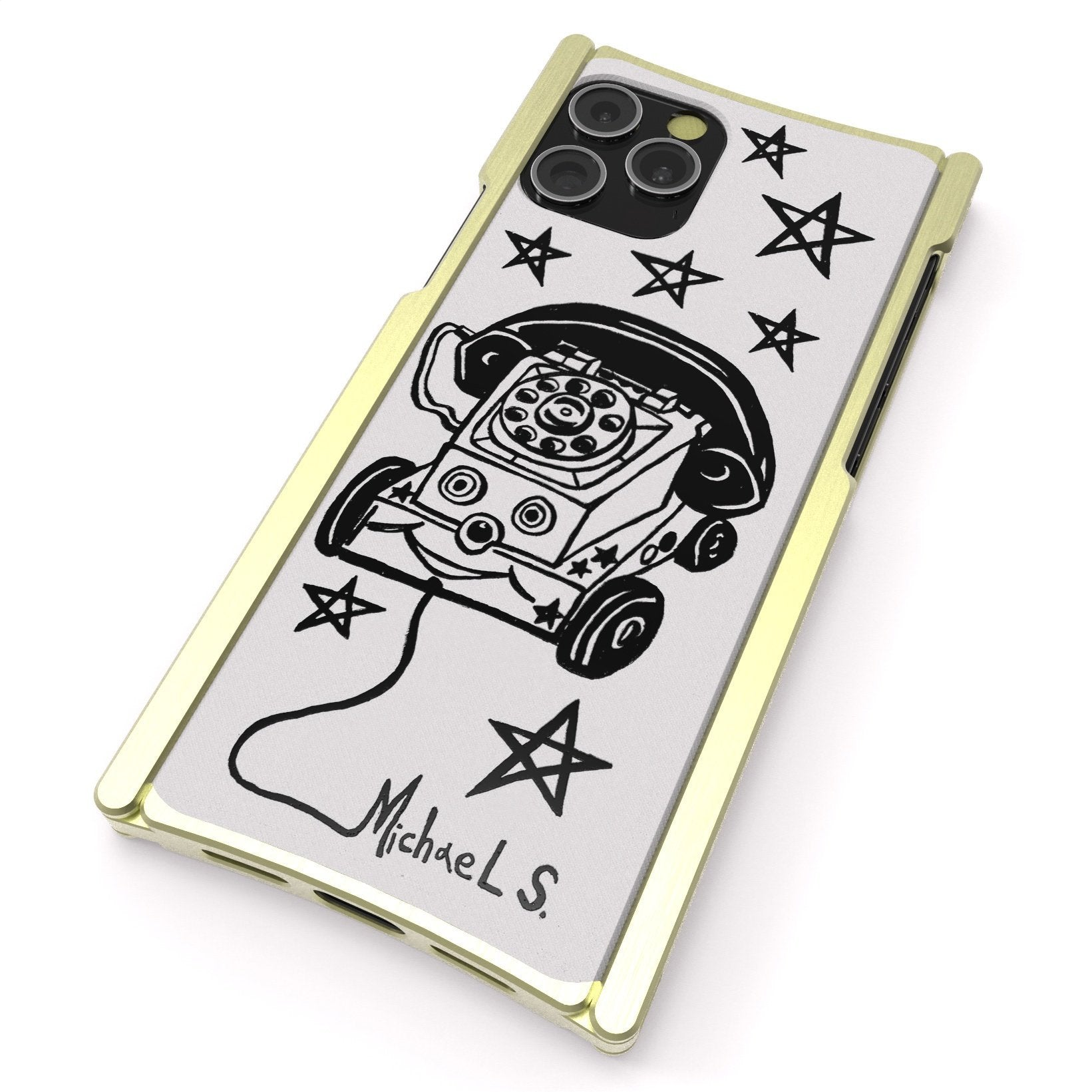 iPhone 12 Case, Michael Toy Phone Europa 12 Pro Max Brass and White G10