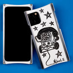 Michael Scoggins Toy Phone Edition Europa case in Heritage Nickel and White G10