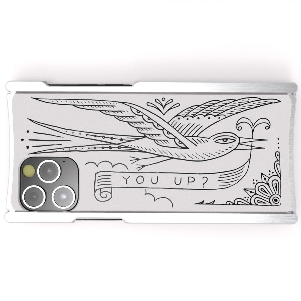 Duke Riley, You Up?, Artist Edition Europa 12 Silver Aluminum and White G10 - Preorder