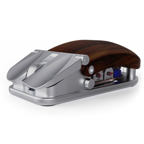 Silver Anodized EXOvault Mouse for Kickstarter