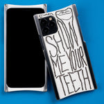 Load image into Gallery viewer, iPhone 11 Case, Alex Gingrow Show Me Your Teeth Edition Europa case in Heritage Nickel and White G10