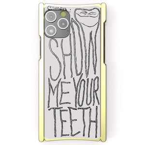 iPhone 12 Case Alex Gingrow, SHOW ME YOUR TEETH, Europa 12 Brass and White G10