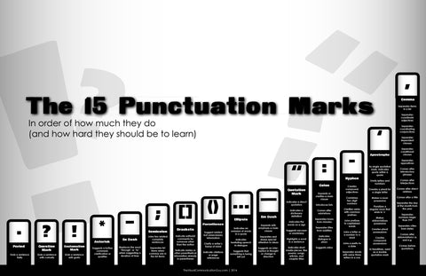 15 Punctuation Marks 19x28.5 Poster