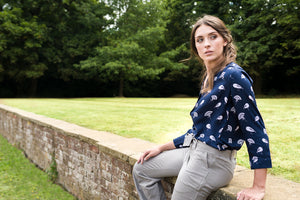 Whitstable Shirt - Navy Bird