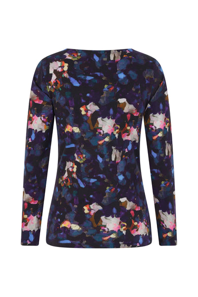 Lowerstoft Top - Abstract Petal Print