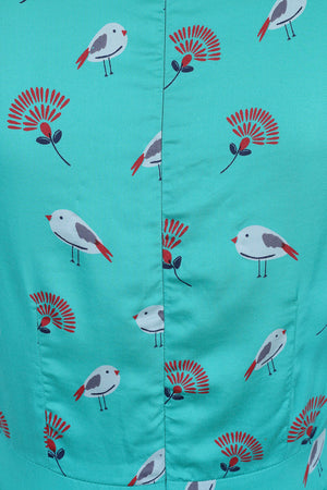 Tea Dance Dress - Lagoon Bird