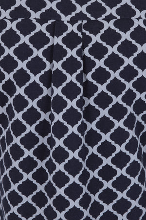Newmarket Top - Navy Grey Tile
