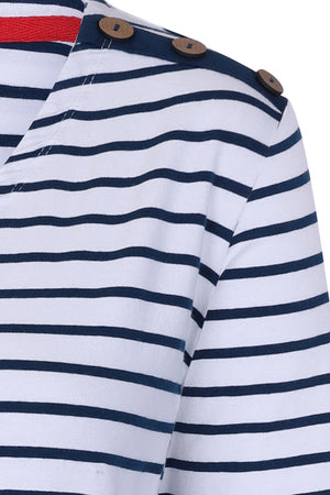 Stay With Me Tunic - Navy Stripe