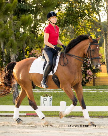 Equestrian Living - Dressage Rider & Makeup Pro Leslie Munsell embraces the concept that less is more.