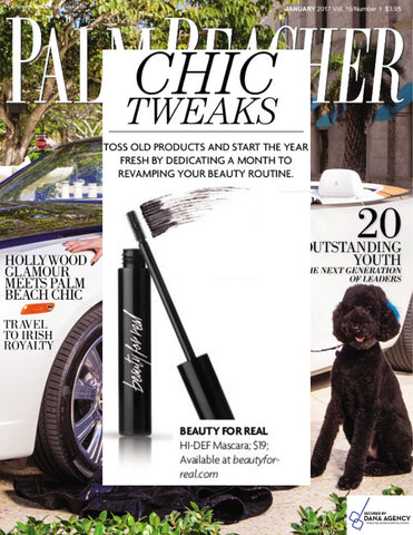 HI-DEF Mascara as featured in Palm Beacher Magazine