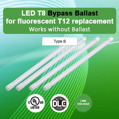 Bypass Ballast LED T8 For Fluorescent T12 Replacement