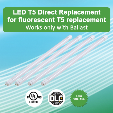 Direct Replacement LED T5 For Fluorescent T5 Replacement