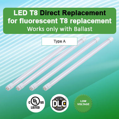 Direct Replacement LED T8 For Fluorescent T8 Replacement
