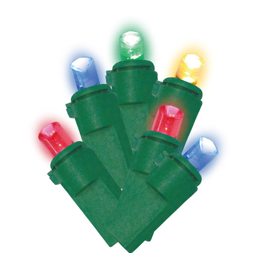 LED Multi Color Christmas Lights (100 Bulbs) 21.65-Ft. - ONBULBLED