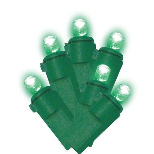 LED Green Christmas Lights (100 Bulbs) 21.65-Ft. - ONBULBLED