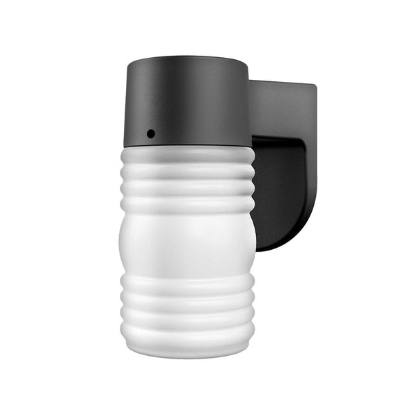 LED Outdoor Jelly Jar Wall Light with Dusk-to-Dawn Sensor 9W