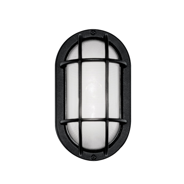 LED Outdoor Bulkhead Wall Light 6.2W Matte Black