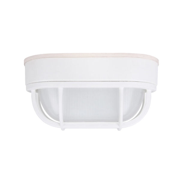 LED Outdoor Bulkhead Wall Light 6.2W Matte White