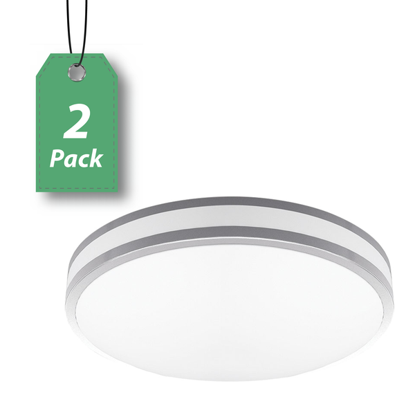 "LED 12"" Round Ceiling Light 11W 2-Pack-OB3002"