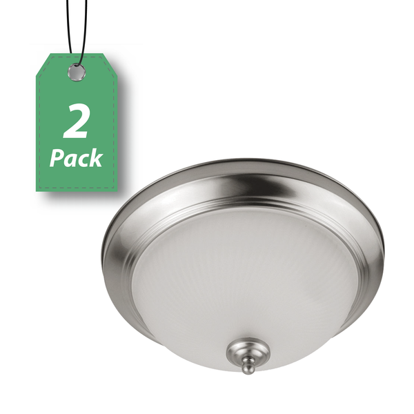 "LED 11"" Round Ceiling Light 11W 2-Pack"