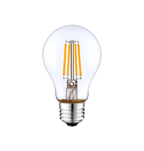 LED Filament A19 Bulb - Clear Glass- Dimmable - 6 Watt - 4000K -<br> Cool White - ONBULBLED