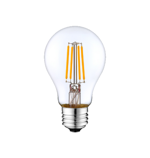 LED Filament A19 Bulb - Clear Glass- Dimmable - 4 Watt - 2700K -<br> Warm White - ONBULBLED