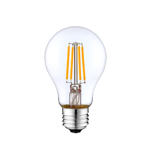LED Filament A19 Bulb - Clear Glass- Dimmable - 6 Watt - 2700K -<br> Warm White - ONBULBLED