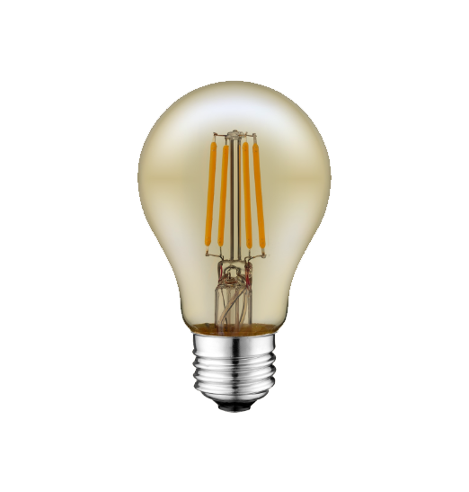 LED Filament A19 Bulb- Antique - Dimmable - 4 Watt - 2200K - ONBULBLED