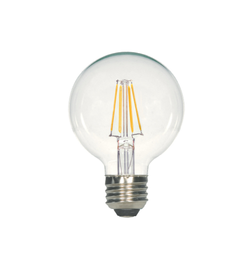 LED Filament G25 Bulb - Clear Glass- Dimmable - 4 Watt - 5000K -<br> Daylight - ONBULBLED