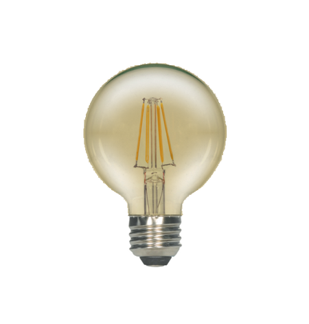 LED Filament G25 Bulb - Antique- Dimmable - 4 Watt - 2200K - ONBULBLED