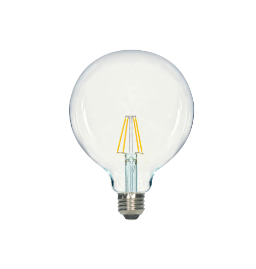LED Filament G40 Bulb - Clear Glass- Dimmable - 5 Watt - 2700K -<br> Warm White - ONBULBLED
