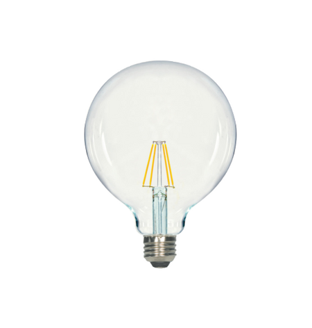 LED Filament G40 Bulb - Clear Glass- Dimmable - 5 Watt - 4000K -<br> Cool White - ONBULBLED