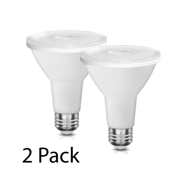 LED PAR30 10W Long Neck Directional Wide Spotlight - Dimmable - 2 Pack