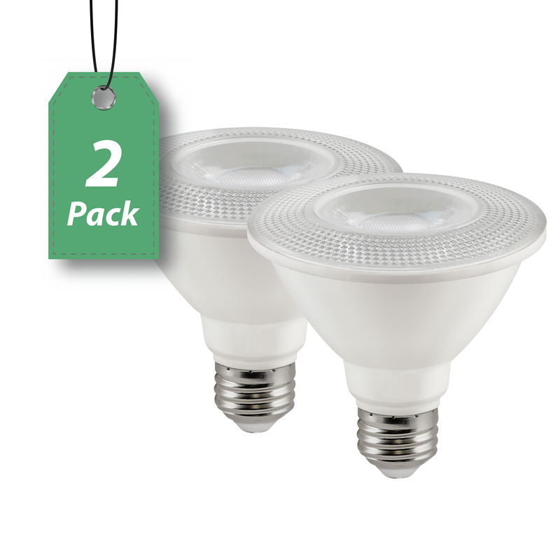 LED PAR30 12W Short Neck Directional Wide Spotlight - Dimmable- 2 Pack
